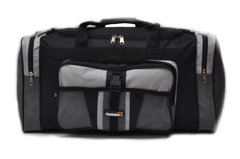 Large 50L foolsGold® Sports Holdall Bag - Grey/Black